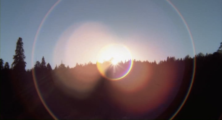 the Crater Lake Monster - Lens Flare