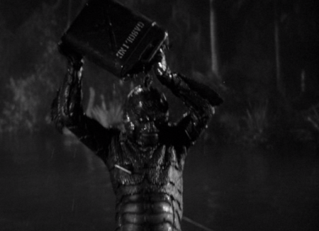 The Creature Walks Among Us - Gill-man Burns Himself