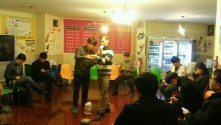Me, as the 1st BINGO winner! I was even allowed to take over the microphone duties!